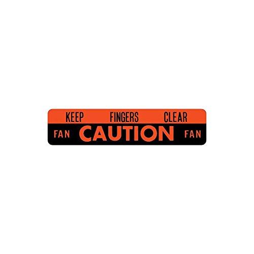 MACs Auto Parts 60-47987 Fan Decal Keep Fingers Clear Fan Caution Fan