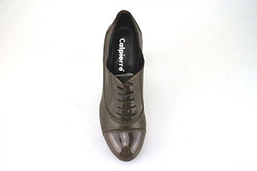 CALPIERRE Zapatos de Salón Mujer Marrón Cuero Charol AJ402-B