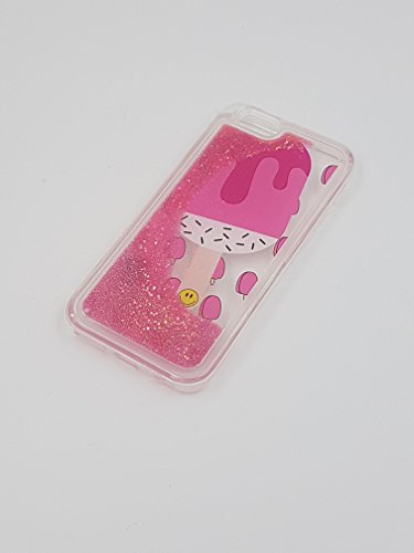 """FUN CASE EIS ICE CREAM pink für Apple iPhone 6 4,7"""" Apple iPhone 6S Handy Cover Hülle Case Glitzer Sterne Flüssig Sternenstaub"""