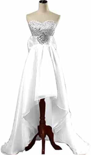 6b22a3b5fe67b Chady Sweetheart Orange High Low Prom Dresses 2019 Beading Backless Short  Evening Dress with Big Satin