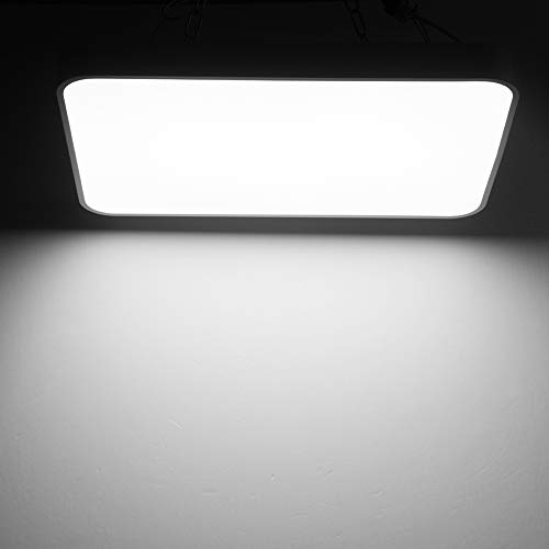 Viugreum LED Flush Mount Ceiling Light, 48W 2880 Lumens Square Panel Light, 6000K (Daylight White) Downlights Lighting Fixture for Kitchen, Hallway, Bathroom, Stairwell by Viugreum (Image #2)