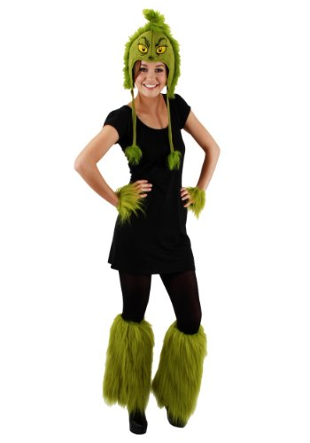 Dr Seuss The Grinch Fuzzy Leg Warmers Costume Accessory