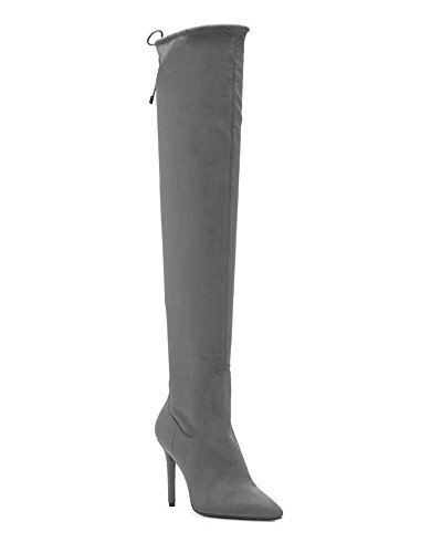 Jessica Simpson Women's Loring Fashion Boot Really Grey Stretch Microsuede