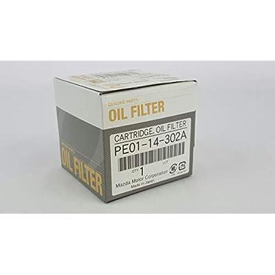 Mazda Genuine PE01-14-302A (1WPE-14-302) Oil Filter Cartridge: Automotive