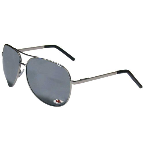 Siskiyou NFL Kansas City Chiefs Aviator Sunglasses ()