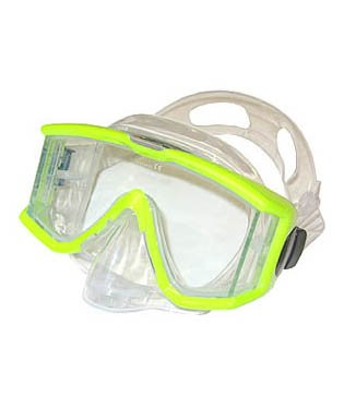 (Tilos 3 Window Nose Purge Mask for Scuba Diving and Snorkeling, yellow)