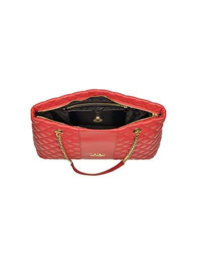 Donna Moschino Love Borsa A Dimensione Marchio Red Unica Del Rosso Size Taglia Spalla Brand wIFdFH