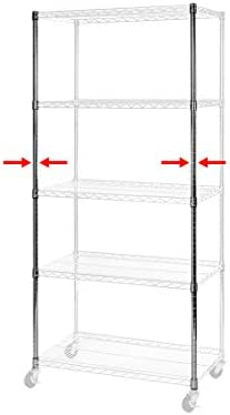 Seville Classics Ultradurable Commercial Grade Steel Shelving Poles 72 H X 1 Diameter Chrome Set Of 2 Home Kitchen Amazon Com