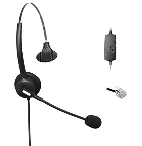 comdio-ch103va5-corded-headset-headphones-ear-phone-volume-mute-control-for-nortel-networks-nt-nothe