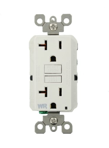 Leviton GFWR2-W Self-Test SmartlockPro Slim GFCI Weather-Resistant Receptacle with LED Indicator, 20 Amp, White ()
