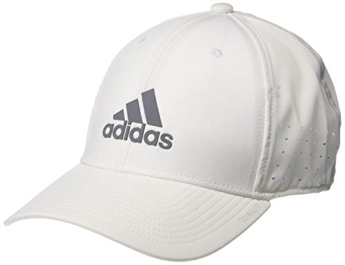 adidas Men's Gameday Stretch Fit Structured Cap, White/Grey, Large/X-Large