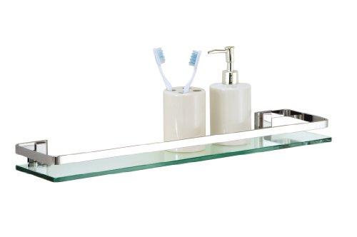 glass and chrome shelves - 1
