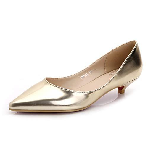 G FLYRCX Décontracté Pointu Couleur Unie Unie Unie en Cuir Verni de Haute qualité Bouche Peu Profonde Chaussures Simples Chaussures de Travail Les Les dames Chaussures a53