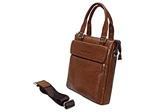 Highflyer Leather Messenger bag Long dsn 5054-2-Brown
