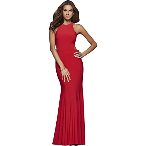 Faviana Womens Prom Cut-Out Evening Dress Red 6