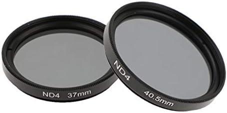 減光 ND4フィルター 2枚:37mm + 40.5mm キャノン/ニコンDSLR対応 ニュートラル濃度