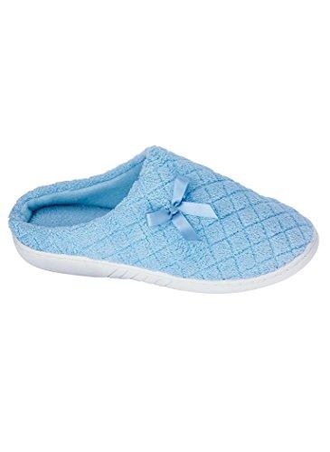 Amerimark Dames Gewatteerde Klompen Pantoffel Slippers Blauw