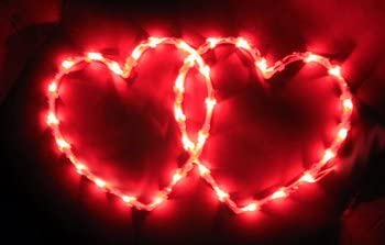 2-Pack Lighted Valentines Heart Window Decoration