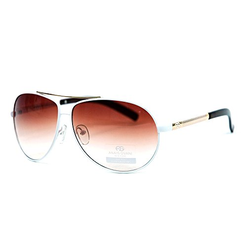 - MKY Women's Classic Aviator Gradient Large Metal Sunglasses