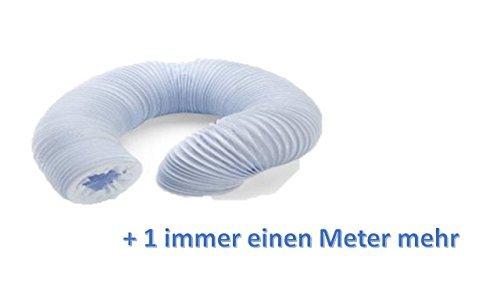 Abluftschlauch für Ablufttrockner, 102mm 2m + 1 m = 3 immer einen Meter mehr der Schlauch ist dehnbar und flexibel ein Meter länger macht die Montage leichter wak