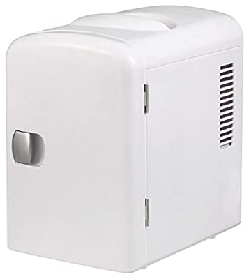 Gourmia GMF600 Portable 6 Can Mini Fridge Cooler and Warmer for Home ,Office, Car or Boat AC & DC