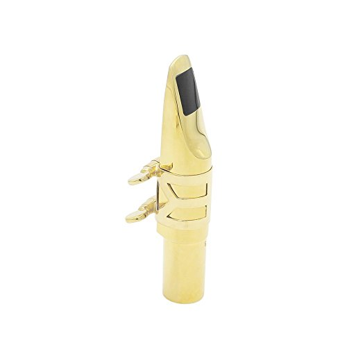 Andoer Alto Sax Saxophone 6C Mouthpiece Metal with Mouthpiece Pads by Andoer (Image #3)