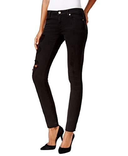 (Michael Michael Kors Petite Izzy Worn Black Skinny Jeans (Black, 2P))