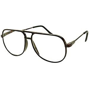 Classic 80s Vintage Oversized Optic Prescription Aviator Reading Eye Glasses Power +100 thru +250 (Red Tortoise, +2.50)