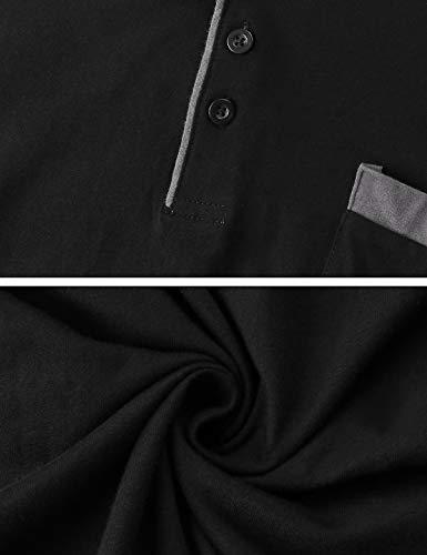 100 Pyjamas Coton Ensemble Coton Ronde Col Hommes Longue Noir 100 Abollria Manche Pyjama De vqEW6B