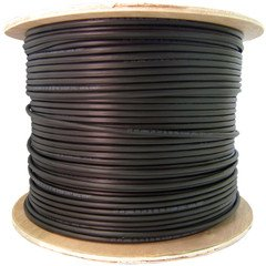 Dealsjungle 6 Fiber Indoor/Outdoor Fiber Optic Cable, Singlemode 9/125, Plenum Rated, Black, Spool, 1000ft