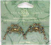 Anna Griffin Brass Embellishments - -