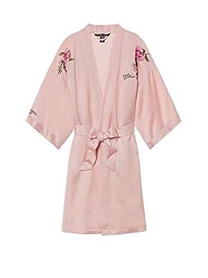 Victoria's Secret Fashion Show Shanghai 2017 Satin Embroidered Kimono Robe Pink Medium/Large