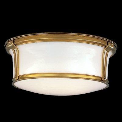 Newport Flush 3-Light Flush Mount - Polished Nickel Finish with Opal Glossy Glass ()