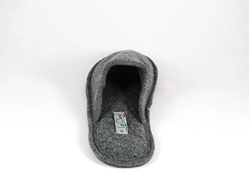 Pantofole da Donna Invernali a Righe Grigio