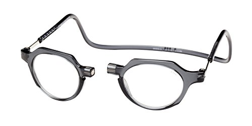 Clic Magnetic Reading Glasses Metro in Grey +2.00