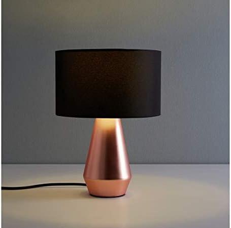 Habitat - Par de lámparas táctiles de mesa (cobre y negro): Amazon.es: Iluminación