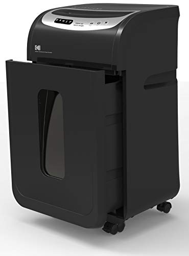 KODAK 16 Sheet Micro-Cut, High Security, Paper Shredder. Double Life-Span ! Quieter Operation Big 8-Gal BIN (Microcut Paper Shredder)