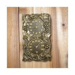 Whitehall Products Grapevine Combo Clock, Copper Verdi
