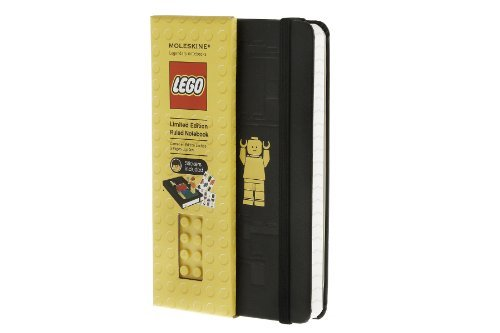 By Moleskine Moleskine LEGO Limited Edition Notebook, Pocket, Ruled, Black, Hard Cover (3.5 x 5.5) (Limited Editi (Ntb Ltd) ()