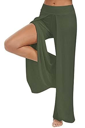 Amazon.com: Anatoky Women's Wide Leg Split Flowy Yoga