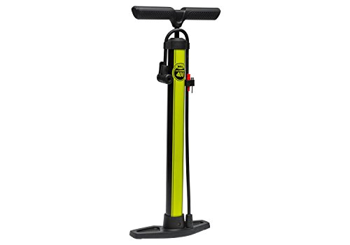 Bell Windstorm 400 Bike Floor Pump - Black/Yellow Bell Windstorm Floor Pump