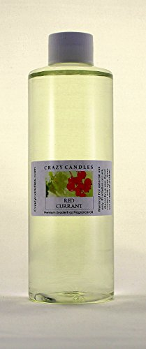 Crazy Candles 8oz Red Currant Bottle 8 Fl Oz Each (237ml) Premium Grade Scented Fragrance Oil
