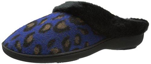 Isotoner Women's Brushed Cheetah Gia Hoodback Flat Sapphire f4B7pXn5Hc