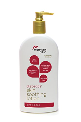 Mountain Falls Diabetics' Skin Soothing Lotion, Fragrance Free, Paraben and Phthlate Free, Compare to Gold Bond, 13 Ounce (Best Lotion For Diabetic Dry Skin)