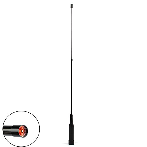 Dual Band Ham Mobile Radio Antenna PL-259 144/430 Extendable Flexible Whip Amateur Mobile Transceiver Car Antenna for TYT TH-9800 FT-8900r UV-50X2 BF-9500 by TWAYRDIO