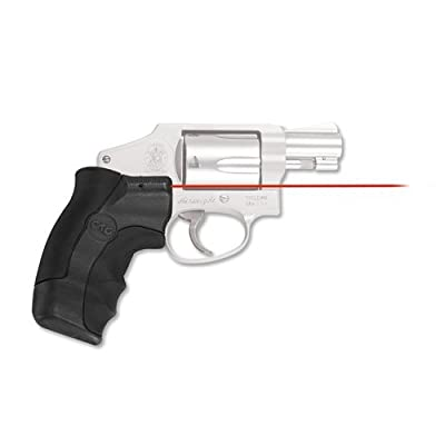 Crimson Trace LG-350 Smith & Wesson, J-Frame Round Butt Lasergrip, Red by Crimson Trace Corporation
