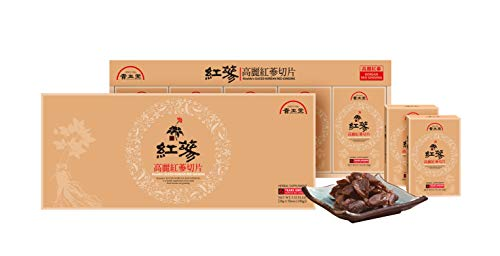 - Kiseido Original Sliced Korean Red Ginseng Portable Packs for Healthy Immune Support 20g x 5 Packs Dipped into Honey Panax Sweet Flavor