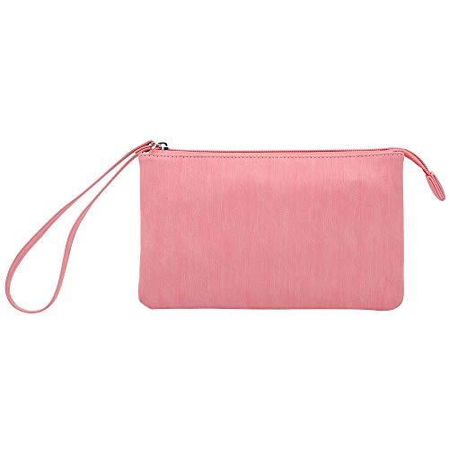 c5eda17d36b7 Hello Color Dual Digital Pocket Storage Handbag,Microfiber PU Leather  Electronic Organizer,Double Travel Gadget Storage Bag for ...