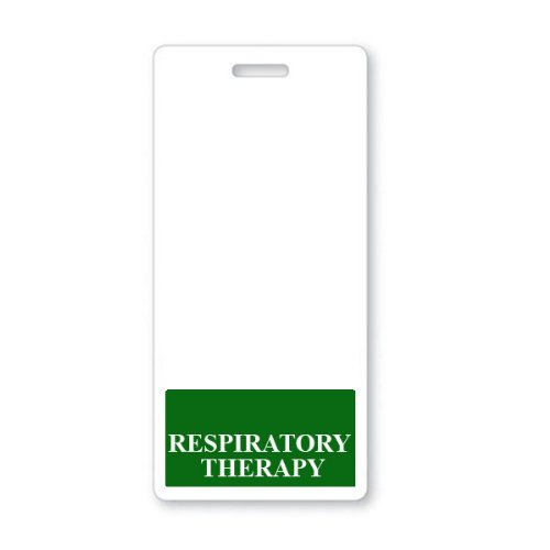 RESPIRATORY THERAPY Vertical Badge Buddy with GREEN Border by Specialist ID, Sold Individually Photo #2
