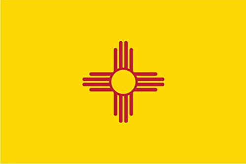 JMM Industries New Mexico State Flag NM Vinyl Decal Sticker The Land of Enchantment Car Window Bumper 2-Pack 5-Inches by 3-Inches Premium Quality UV-Resistant Laminate PDS337
